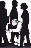 prier le clown illustration libre de droits