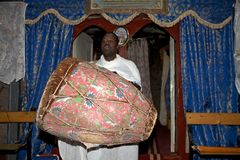 Priest at the Adadi Maryam church Ethiopia Royalty Free Stock Images
