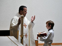 Priest And Alter Boy Royalty Free Stock Images