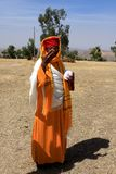 Priest At Debre Damo Monastery, Ethiopia Royalty Free Stock Photo