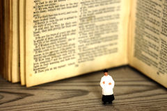 Priest bible book old antique Stock Photography