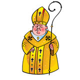 Priest Bishop Pope stock illustration