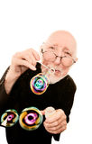 Priest Blowing Bubbles Stock Image