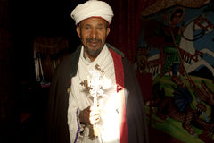 A Priest in a church, Ethiopia Royalty Free Stock Photos