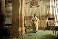 A Priest in a church, Mek'ele Royalty Free Stock Photo