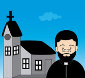 Priest design Royalty Free Stock Images