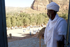 A Priest in Ethiopia Stock Photo