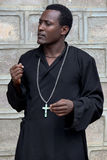 The priest from the Ethiopian orthodox church. Royalty Free Stock Photography