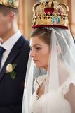 Wedding ceremony in church Stock Photography