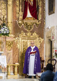 Priest giving mass in a church Royalty Free Stock Photography