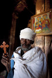 A priest holding a cross, Ethiopia Royalty Free Stock Image