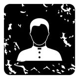 Priest icon, grunge style Royalty Free Stock Images