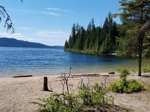Priest lake bottle bay royalty free stock images