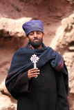 Priest in Lalibela, Ethiopia. Orthodox ethiopian priest - near the the saint George church in Ethiopia, Africa Royalty Free Stock Photo
