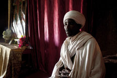 Priest, Lalibela Royalty Free Stock Photo