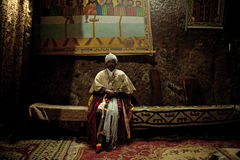 A Priest in Lalibela Stock Photos