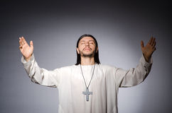 Priest man in religious Stock Photo