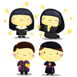 Priest and nun Royalty Free Stock Images