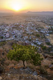 Priest of Pap Mochani Gayatri Temple looking over the Pushkar Royalty Free Stock Photography