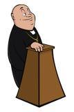 Priest at podium Stock Photo