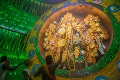 Priest praying to Goddesss Durga, Durga Puja festival, Kolkata, India Royalty Free Stock Photo