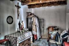 Priest room. Hdr, cabinet with habit royalty free stock images