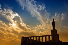 Priest silhouette sculpture Royalty Free Stock Photography