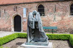 Priest Statues Bruges Stock Photos