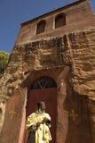 A Priest stood outside a church, Mek'ele Royalty Free Stock Photos