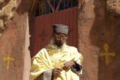 A Priest stood outside a church, Mek'ele Stock Images