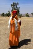 Priester-At Debre Damo-Kloster, Äthiopien Lizenzfreies Stockfoto