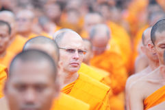 Priester im eben Buddhisten Stockfotografie