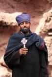 Priester in Lalibela, Ethiopië Royalty-vrije Stock Foto