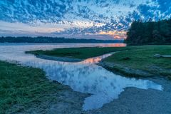 Priester Point, Olympia Washington auf Puget Sound lizenzfreies stockfoto