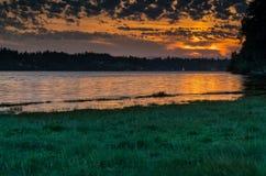 Priester Point, Olympia Washington auf Puget Sound lizenzfreie stockbilder