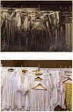 Priester ` s kleidet im Umkleideraum in der Kirche lizenzfreie stockfotografie