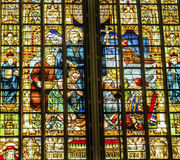 Priester Slaves Stained Glass De Krijtberg Church Amsterdam Holland Netherlands Lizenzfreie Stockfotos