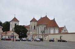 Priesterseminar Kaunas August 21,2014-Priest in Kaunas in Litauen Lizenzfreies Stockfoto