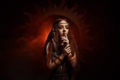 Priestess солнца стоковая фотография rf