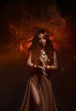 Priestess av solen fotografering för bildbyråer