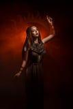 Priestess av solen royaltyfri fotografi