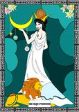 The priestess card Stock Photography