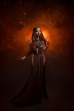 Priestess of the sun royalty free stock image