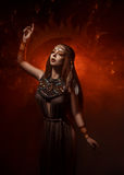 Priestess of the sun royalty free stock images