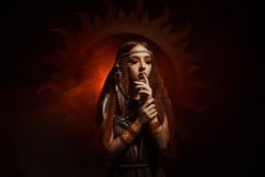 Priestess of the sun royalty free stock photography