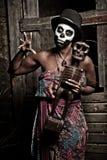 Priestess van het voodoo Stock Foto's