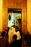 Priests in copertino Stock Image