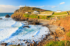 Priests Cove Cape Cornwall. Overlooking Priests Cove at Cape Cornwall near St Just Cornwall England UK Europe royalty free stock photography