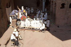 Priests, Lalibela Stock Image