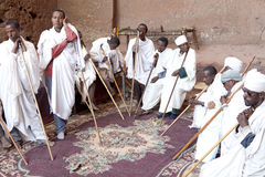 Priests, Lalibela Royalty Free Stock Photography